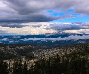 california, clouds, and mountians image