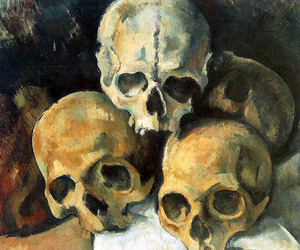 skull, art, and painting image