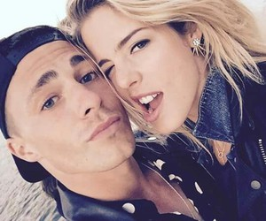 arrow, colton haynes, and emily bett rickards image