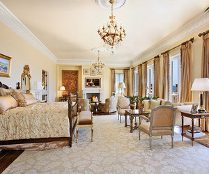 bedroom, interior, and luxury image