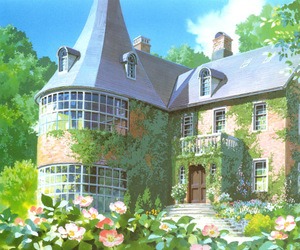 anime, flowers, and ghibli image