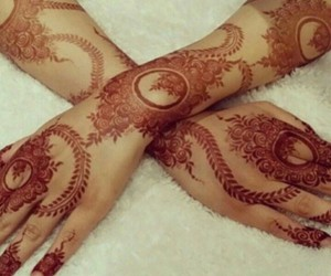 arabic, mehndi, and beautiful image