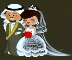 فستان, زواج, and ابيض image