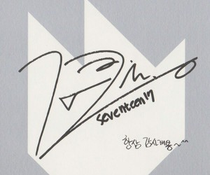 autograph, dino, and Seventeen image