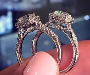 diamond, gold, and ring image