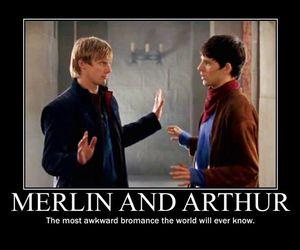 bromance, merlin, and arthur image