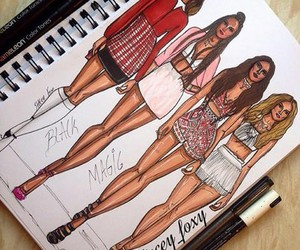 little mix, girls, and black magic image