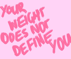 weight, quotes, and pink image