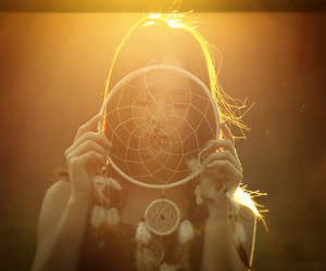girl, sun, and Dream image