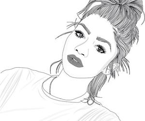bun, outline, and zendaya image