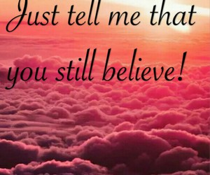 believe, Lyrics, and song image