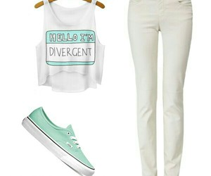 outfit, Polyvore, and white image