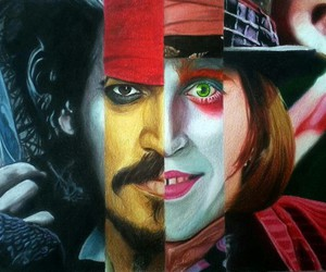 johnny depp, jack sparrow, and Willy Wonka image