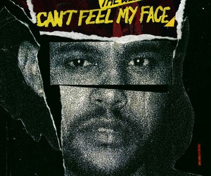the weeknd and can't feel my face image