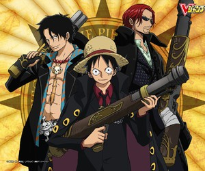 ace, shanks, and one piece image