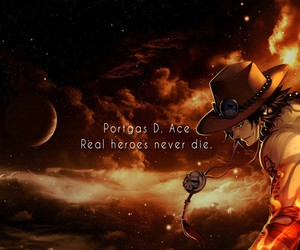 one piece, ace, and hero image