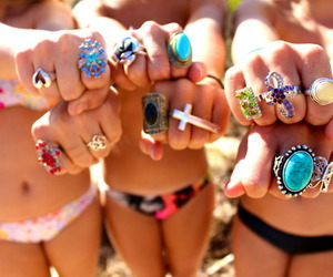 beach, fingers, and rings image