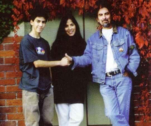 Dhani Harrison, family, and george harrison image