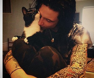 andy biersack, cat, and black veil brides image