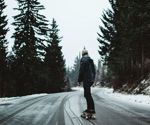 skate, snow, and winter image