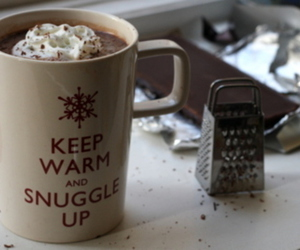 chocolate, winter, and hot ​chocolate image