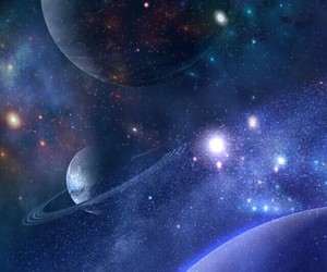 galaxy, stars, and planets image