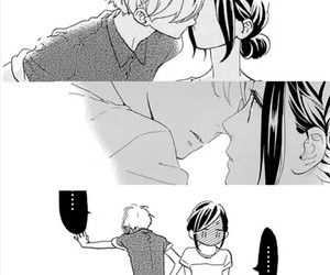 manga, hirunaka no ryuusei, and love image