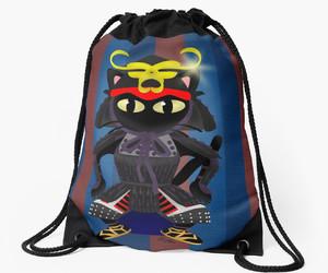cat, redbubble, and samurai image