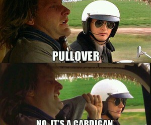 cardigan, funny, and driver image