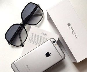 iphone, apple, and sunglasses image