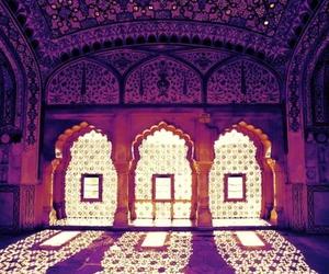 india, purple, and light image