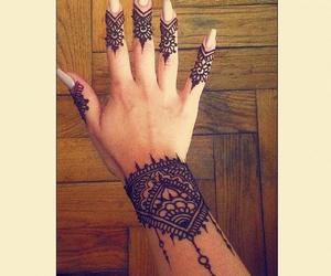 girl, tattoo, and henna image