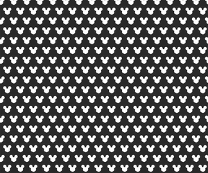 black and white, pattern, and mickey mouse image