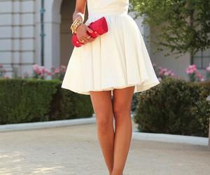 clutch, dress, and fashion image
