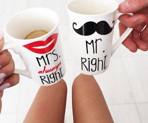 love, cup, and coffee image