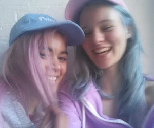 blue, girls, and pale image