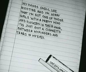 girl, quotes, and smoke image