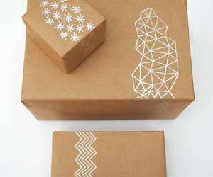 diy, giftwrap, and triangles image