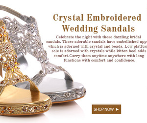wedding sandals, crystal sandals, and embroidered sandals image