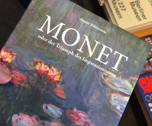 monet, art, and book image
