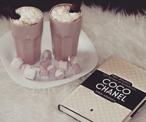 book, chocolate, and coco chanel image