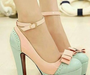 heels, shoes, and pastell image
