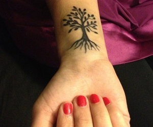 cool, tattoo, and tree image