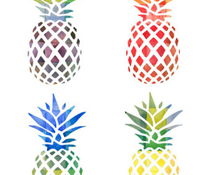 colours and pineapple image