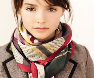 girl, scarf, and cute image