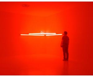 artwork, Dan Flavin, and light image