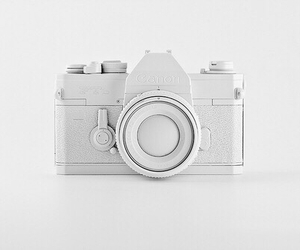 white, camera, and photography image