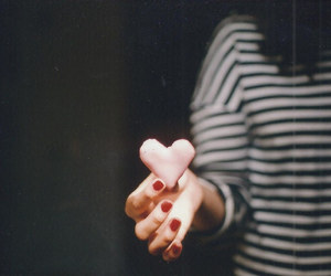 vintage, girl, and heart image