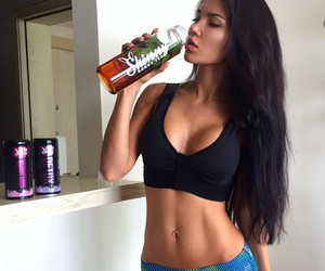 girl, fit, and gym image