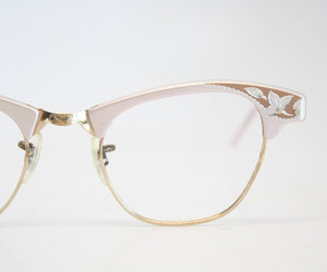 glasses, pink, and style image